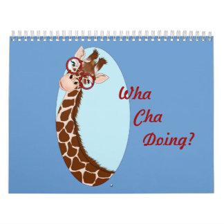 ¡Es un parque zoológico! Sobre todo jirafas… Calendario