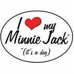 ¡Es un perro! Amo a mi Minnie Jack Escultura Fotográfica