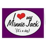 ¡Es un perro! Amo a mi Minnie Jack Felicitacion