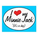 ¡Es un perro! Amo a mi Minnie Jack Tarjeta Postal