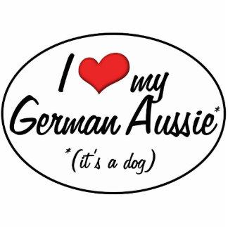 ¡Es un perro! Amo mi Aussie alemán Adorno Fotoescultura