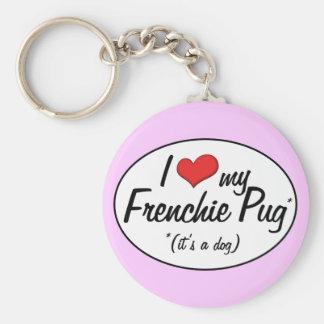 ¡Es un perro! Amo mi barro amasado de Frenchie Llaveros Personalizados