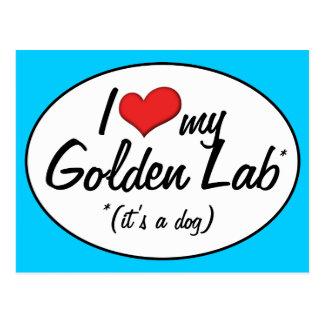 ¡Es un perro! Amo mi laboratorio de oro Postales