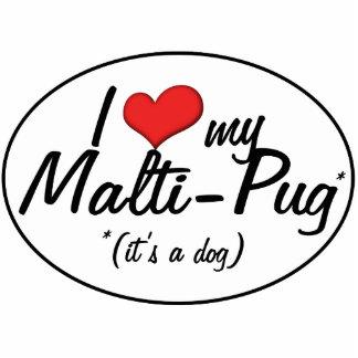 ¡Es un perro Amo mi Malti-Barro amasado Escultura Fotografica