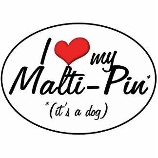 ¡Es un perro Amo mi Malti-Pin Esculturas Fotograficas