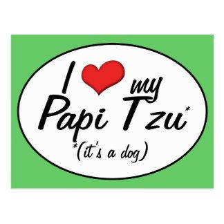 ¡Es un perro! Amo mi Papi Tzu Tarjetas Postales