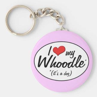 ¡Es un perro! Amo mi Whoodle Llavero Redondo Tipo Pin