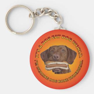 Es un perro come el mundo Keychain. del perro Llavero Redondo Tipo Pin