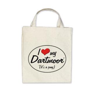 ¡Es un potro Amo mi Dartmoor Bolsas Lienzo