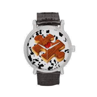Es un reloj del rompecabezas
