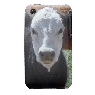 ¡Es un rodeo! El ganado blanco negro acobarda bece iPhone 3 Carcasas