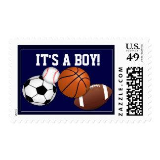 Es un sello de la invitación del bebé del muchacho