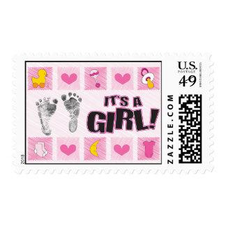 Es un sello del chica