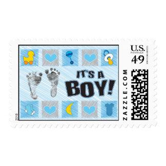 Es un sello del muchacho