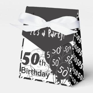 Es una 50.a fiesta de cumpleaños caja para regalos