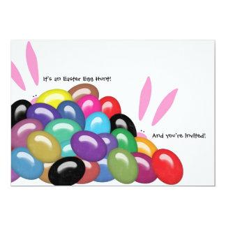 """Es una caza del huevo de Pascua y le invitan Invitación 5"""" X 7"""""""