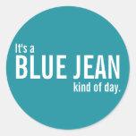 Es una clase azul de Jean de pegatinas casuales de
