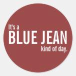 Es una clase azul de Jean de pegatinas casuales ro