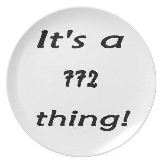 ¡Es una cosa 772! Plato De Cena