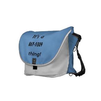 es una cosa 867-5309 bolsas de mensajeria