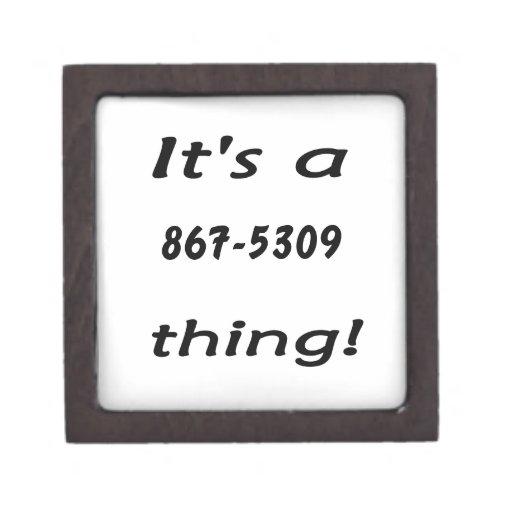 es una cosa 867-5309 caja de regalo de calidad