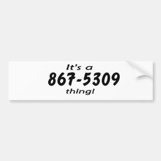 es una cosa 867-5309 pegatina para auto