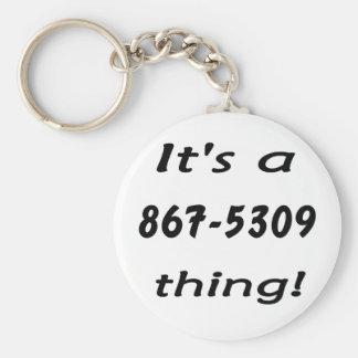 es una cosa 867-5309 llavero redondo tipo pin
