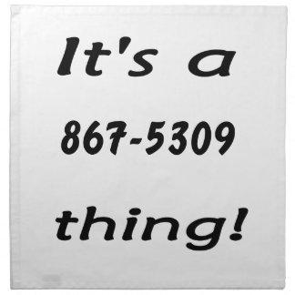 es una cosa 867-5309 servilleta de papel