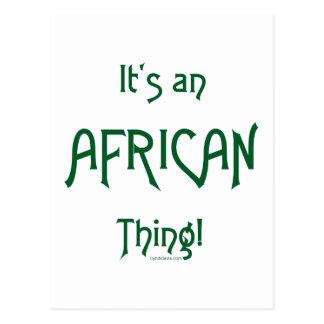 Es una cosa africana postal