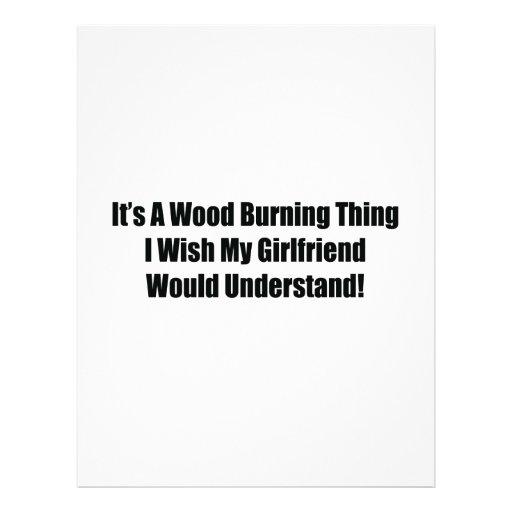 Es una cosa ardiente de madera que deseo a mi novi plantillas de membrete