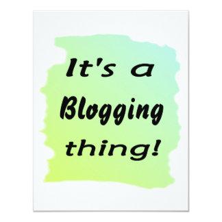 ¡Es una cosa blogging! Anuncio Personalizado