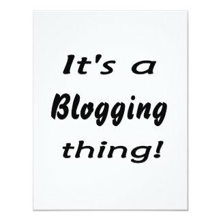 ¡Es una cosa blogging! Invitacion Personal