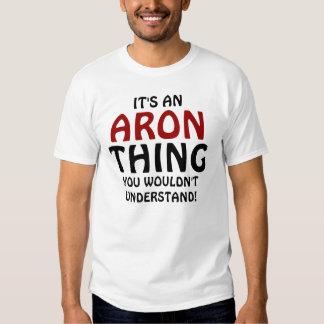¡Es una cosa de Aron que usted no entendería! Polera