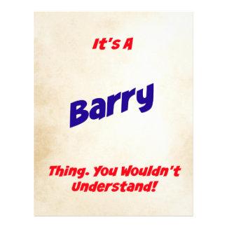 Es una cosa de Barry. ¡Usted no entendería! Plantilla De Membrete
