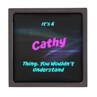 Es una cosa de Cathy. ¡Usted no entendería! Caja De Joyas De Calidad