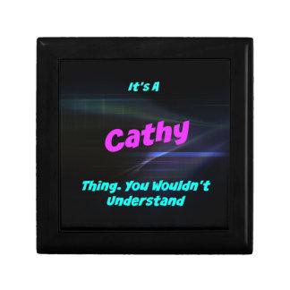 Es una cosa de Cathy. ¡Usted no entendería! Joyero Cuadrado Pequeño