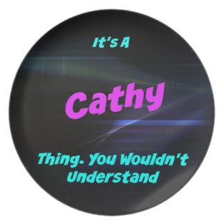 Es una cosa de Cathy. ¡Usted no entendería! Platos De Comidas