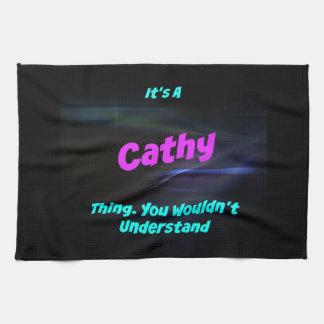 Es una cosa de Cathy. ¡Usted no entendería! Toallas