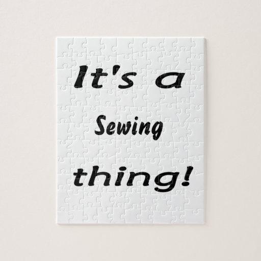 ¡Es una cosa de costura! Puzzles