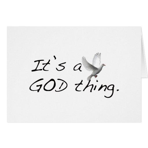 Es una cosa de dios tarjeta de felicitación