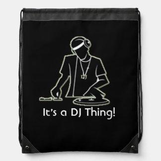 ¡Es una cosa de DJ! Mochila