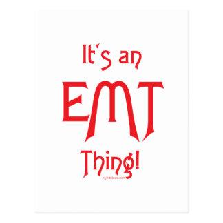 ¡Es una cosa de EMT! Postal