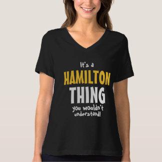 Es una cosa de Hamilton que usted no entendería Playera