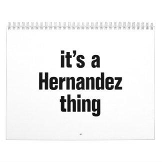 es una cosa de Hernández Calendario