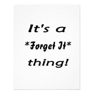 ¡Es una cosa de It* del *Forget! Anuncios