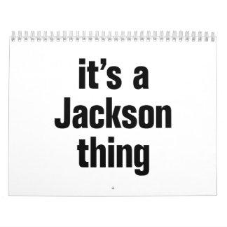 es una cosa de Jackson Calendarios De Pared