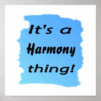 ¡Es una cosa de la armonía! Póster