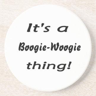 ¡Es una cosa de la boogie-woogie! Posavasos Cerveza