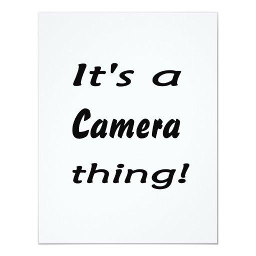 ¡Es una cosa de la cámara! Comunicado