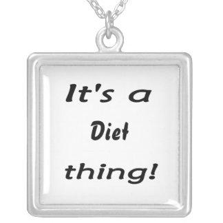 ¡Es una cosa de la dieta! Colgante Cuadrado